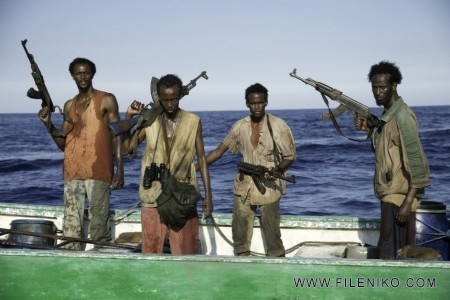 Still of Faysal Ahmed, Barkhad Abdi, Barkhad Abdirahman and Mahat M. Ali in Captain Phillips (2013)