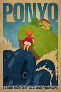 دانلود انیمیشن Ponyo پونیو دوبله فارسی دوزبانه انیمیشن مالتی مدیا