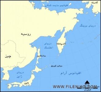 موقعیت جغرافیایی شبهجزیره کامچاتکا