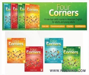 دانلود مجموعه آموزش زبان Four Corners کتاب Four Corners 1 آموزش زبان مالتی مدیا