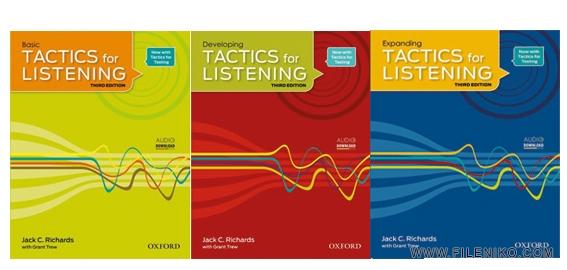 دانلود ویرایش سوم کتاب های Tactics for Listening آموزش زبان مالتی مدیا