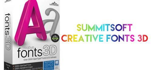 Summitsoft-Creative-Fonts-3D